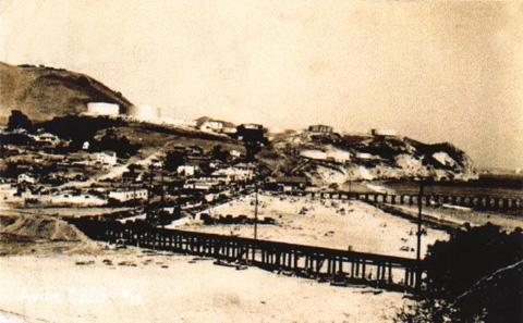 Front of Avila postcard