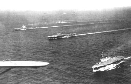 Aircraft Carriers HMS Victorious, HMS Indomitable and HMS Eagle